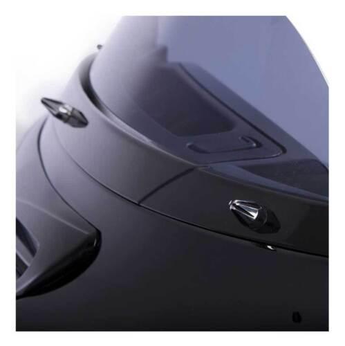 Black//Chrome 10111 Ciro Windshield Screw Cap Kit Fits Electra /& Street Glides
