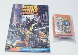 Star Wars Rebels 2014 Topps Sticker Set Topps and Album in spanish rare !!