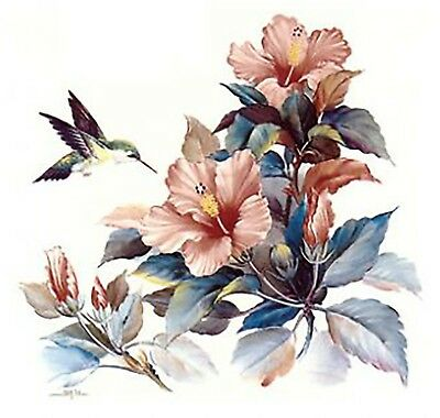 Hummingbird Fuchsia Flower Select-A-Size Ceramic Waterslide Decals Xx