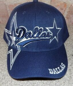 Dallas-Blue-Hat-Cap-Script-Visor-Embroidered-Signature-Double-Cowboys-Star
