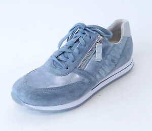Gabor Comfort Sneaker 368 36 sky blau Nubuk Leder Reißverschluß ... 819944f9e0