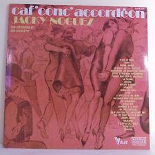 """2 x 33T Jacky NOGUEZ Vinyles LP 12"""" CAF CONC ACCORDEON -FLEURS PARIS - VOGUE 639"""