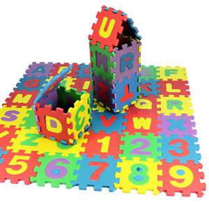 36 pcs Baby Kids Alphanumeric Educational Puzzle Blocks Infant Child Toy Gift QY
