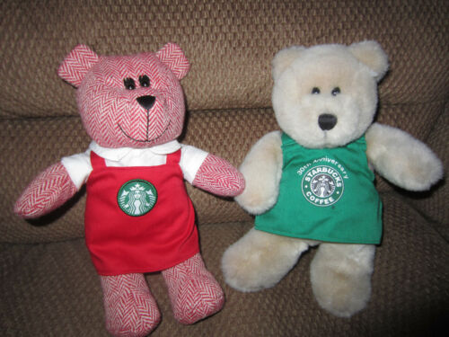 Starbucks Limited Edition Red Holiday Apron Bearista Girl & BOY GREEN APRON 30TH