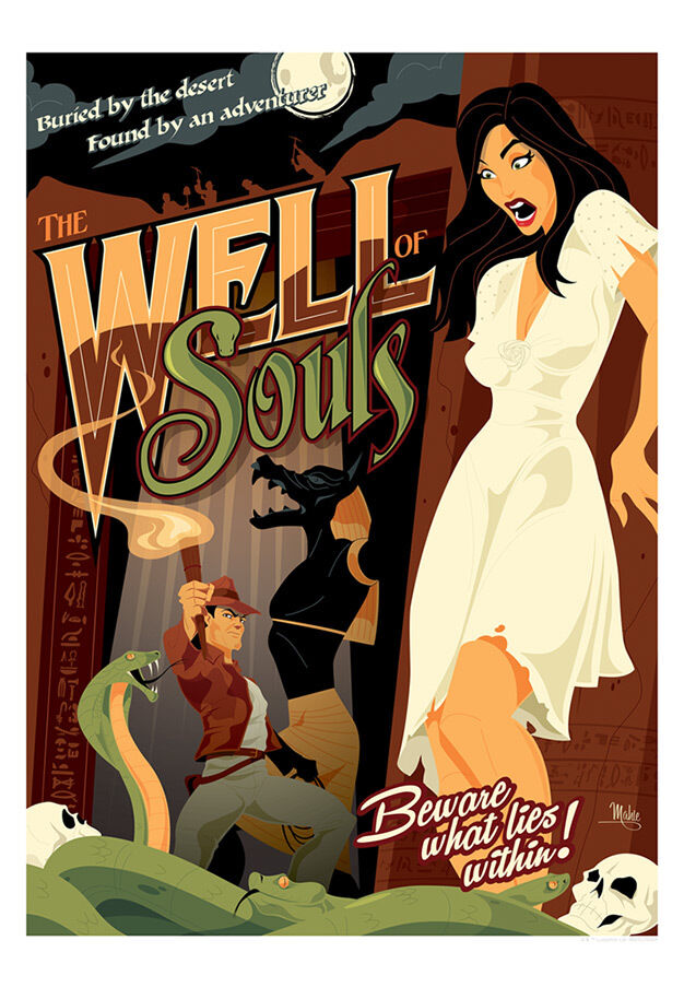 Indiana Jones Raiders of the Lost Ark Snakes in The Well of Souls Giclée Paper