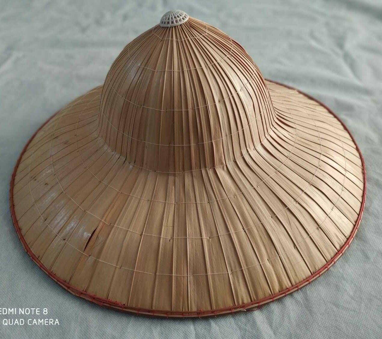 42cm 17 Vietnamese Japanese Asian Coolie Straw Bamboo Sun Hat Farmer Costume For Sale Online Ebay