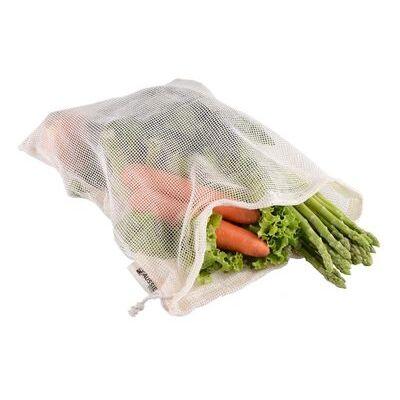 [** 3-PACK **] AUSSIE ECO LARGE ORGANIC COTTON REUSABLE MESH PRODUCE BAG XL