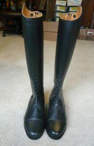 Rear Zipper-Size 6 1//2 R NEW Ladies Tall Leather Field Boots