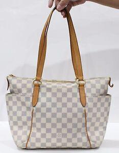 859e4de3d021 Used Authentic Louis Vuitton LV Bag Monogram Totally PM Damier Azur ...