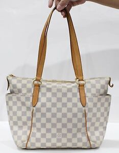Used-Authentic-Louis-Vuitton-LV-Bag-Monogram-Totally-PM-Damier-Azur-916