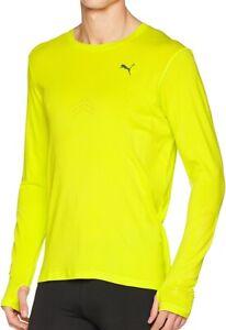 Puma-NightCat-evoKnit-Long-Sleeve-Mens-Running-Top-Yellow