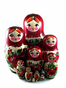 Nesting Dolls Russian Matryoshka Babushka Stacking Wooden Toys New set 5 pcs 3in