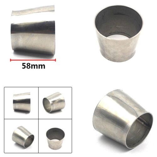 Length 58mm Weldable Exhaust Pipe Reducer Adapter OD 2.5/'/' 63mm to 3/'/' 76mm