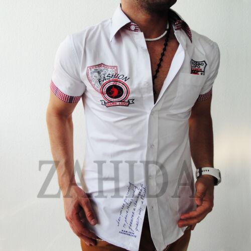 Zahida Herren Hemd T-Shirt Shirt Clubwear Design Polo Club Kurzarm S-XXL NEU