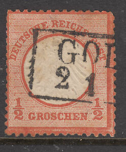 GERMANY-1872-SG-3-1-2-Groc-Type-A-Cat-110-Good-Cancel-FINE-USED