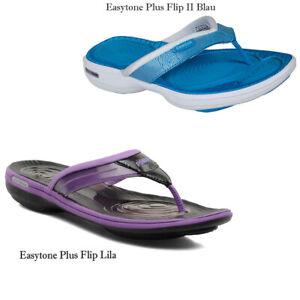 Details zu Reebok EasyTone Plus Flip II Damen Sandalen 35 2,5 5 Schuhe Muskelaufbau Waden N