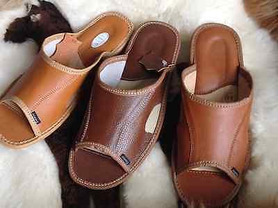 Hombre Chanclas Cuero Mulle Sandalias Pantuflas Zuecos Zapato Números 40 A 44 11