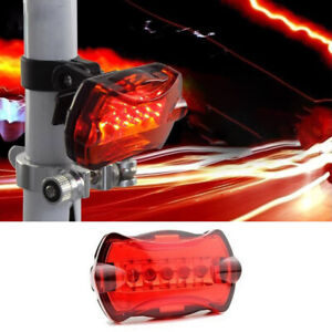 Waterproof 5 LED Lamp Bike Bicycle Flash Head Light Rear Safety Taillight RX