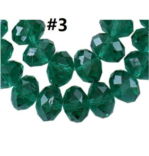 70pcs 8x6mm Faceted Electroplate Glass Beads-pls pick a color
