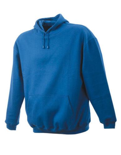 Jn047 jamesnicholson Uomo Felpa Uomo Sweater Pullover di lavoro con cappuccio