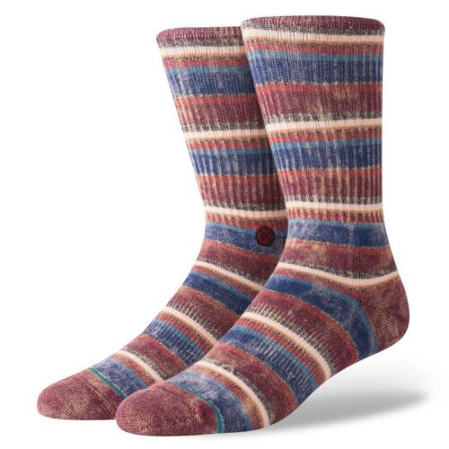 New Stance Sarthe Classic Medium Cushion Socks Maroon Cotton Men L 9-12 Crew