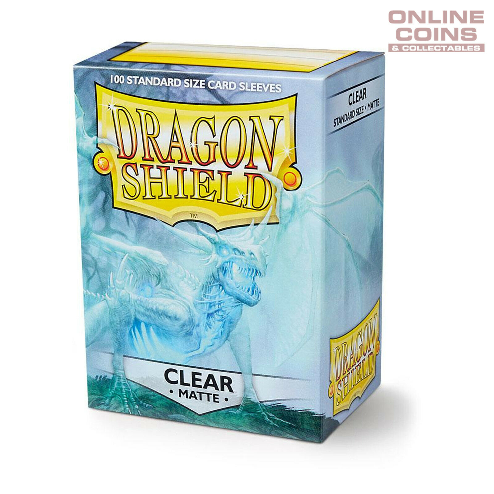 100 Count Clear Inner Card Sleeves Matte Clear 100 Count Standard Size Deck Protector Sleeves Dragon Shield Bundle