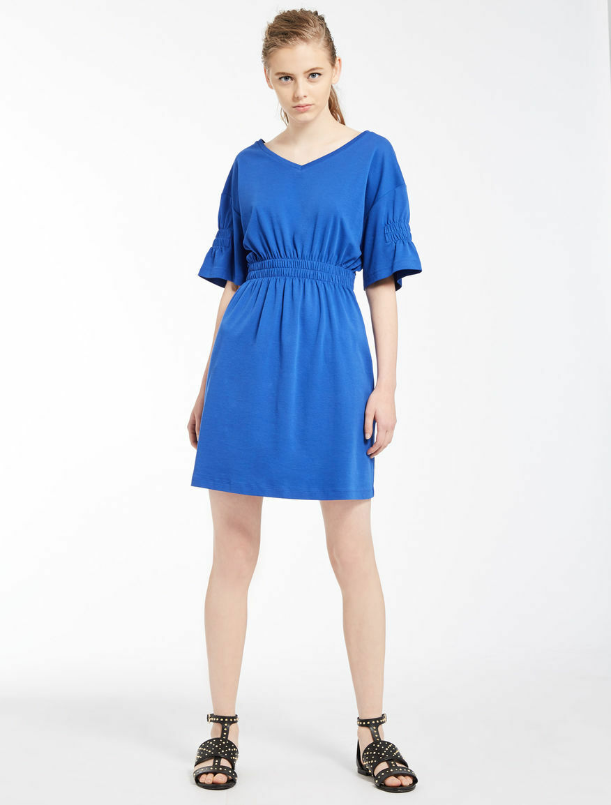 Kleid aus Jersey Baumwolle KornBlaumenblau Accenni Marella Sport