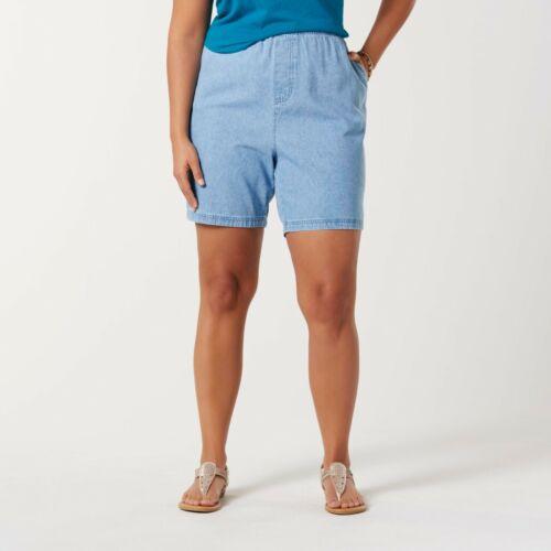 Large /& XL Light Wash Laura Scott Ladies Denim Shorts Sizes Med