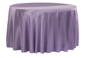 """7 Round 90/"""" inch SATIN Tablecloth Overlay WEDDING 25 COLORS table cover USA SALE"""