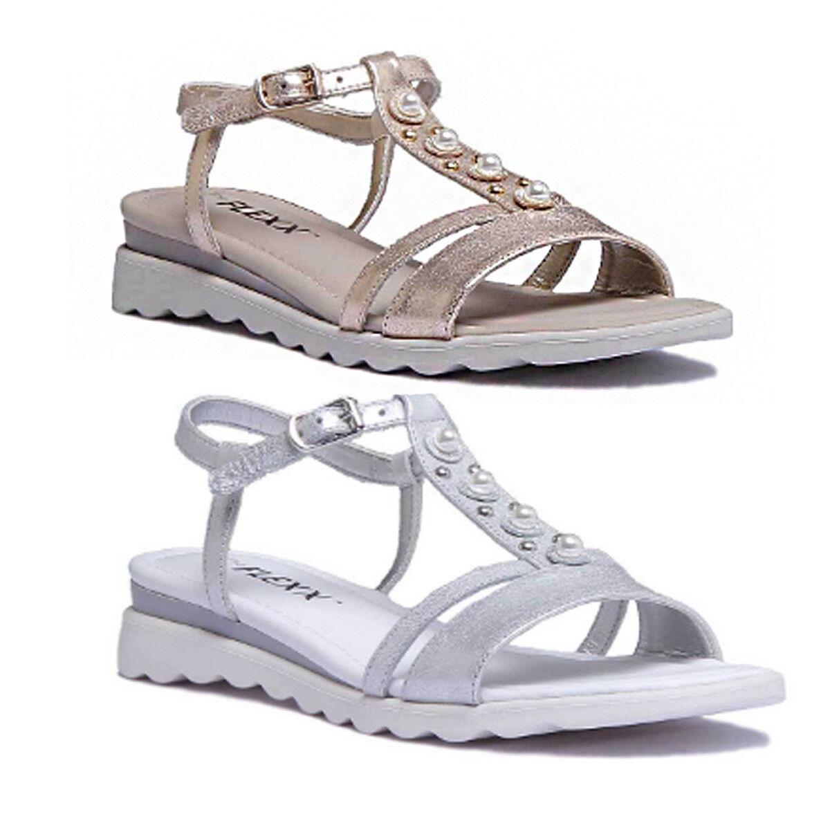 The Flexx Cut Me damen Silber Ledersandalen Sandale Sommer Schuhe
