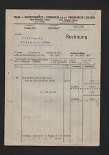Superiore Kirch, fattura 1932, campo-Attrezzature Sportive-fabbriche GmbH fabbrica Plettenberg