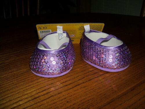 Build a Bear Accessory Lavender Violet Plum Purple Sequin Mary Jane Shoes Flat