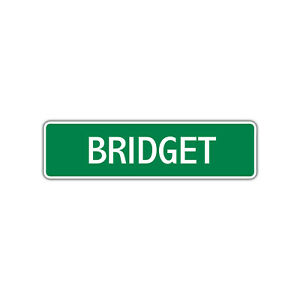 Bridget Girls Name Letter Printed Label Art Decor Novelty ...