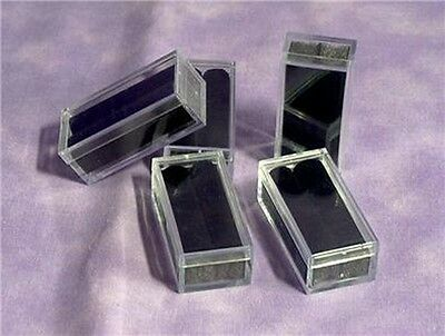 TUFTED RECTANGLE GEM BOXES WITH TAGS 10 QTY BLACK