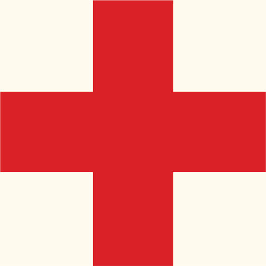 World War Two WWII Red Cross Medic helmet decal