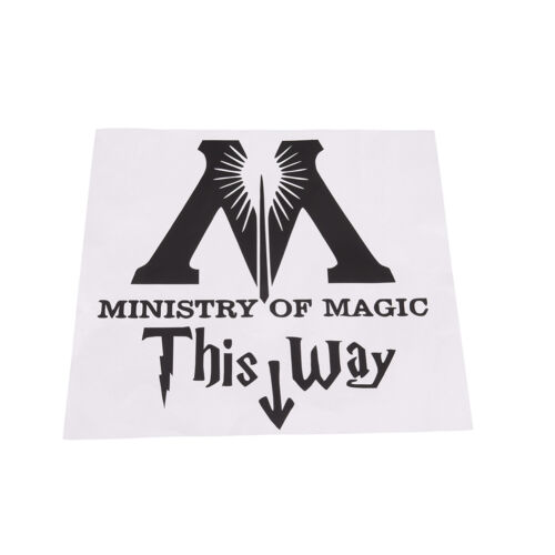ministry of magic way inspired toilet sticker funny toilet restroom decal BS