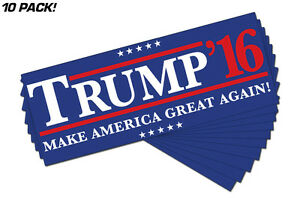 Make-America-Great-Again-Donald-Trump-2016-Political-Bumper-Sticker-10-PACK