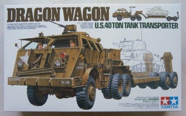 Tamiya 1 35 35230 DRAGON WAGON US 40 TON TANK TRANSPORTER (UK SALE ONLY)