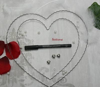Herz Herzen Hochzeit Rohling Für Girlande Und Blüten Autoschmuck Liebe Ein Unverzichtbares SouveräNes Heilmittel FüR Zuhause Süß GehäRtet 1 Draht Floristik-zubehör Bindedrähte