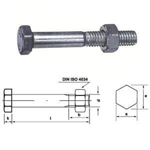 Stahl verzinkt von 10-100 mm 50 Stk Sechskantschraube /& Mutter DIN 601  M6