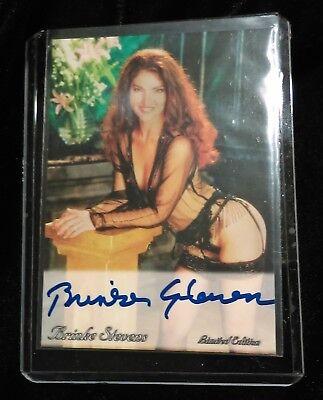 Brinke Stevens TRADING CARD Signed AUTOGRAPHED COA Femme Fatales Horror Hustler