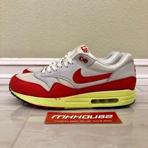 report with time Treatment  Nike Air Max 1 Premium QS Air Max Day 3.26 2014 Red Neon 665873-106 Size  10.5 887231380763 | eBay