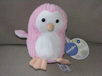 Toys R Us Babies Baby Girl Pink Stuffed Plush Rib Ribbed Cord Penguin Chime Toy