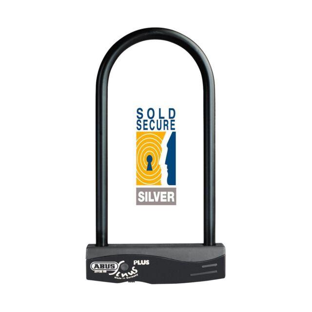 Bicicleta D Lock Abus Sinus Plus 30cm D-Lock Black 30cm Bicycle Sold Secure Gold