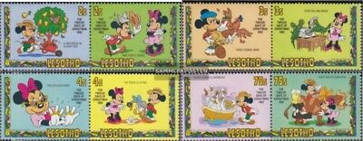 kompl.ausg. Postfrisch 1982 Walt Disney Figuren Diversified Latest Designs Nice Lesotho 402-409 Paare