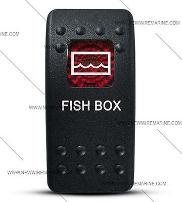 Labeled Contura II Rocker Switch COVER ONLY Fish Box Red Window