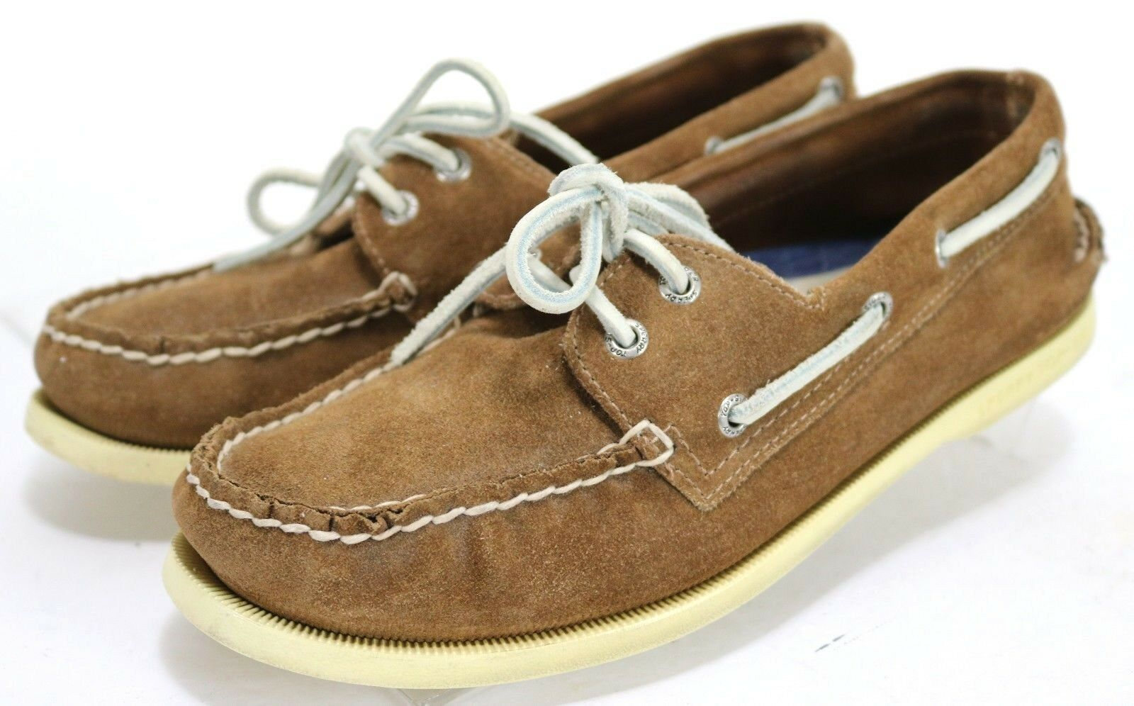Sperry Top-Sider Men's  2-Eye Boat shoes Size 8.5 Suede Leather Brown
