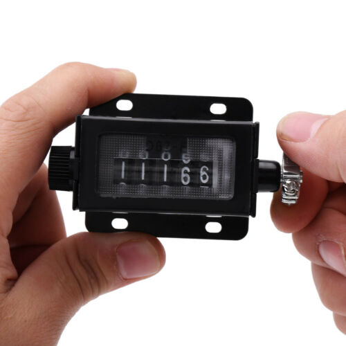 Mechanical Counter 5 Digit 0-99999 Counter Rotary Knob Resettable with Spring gd
