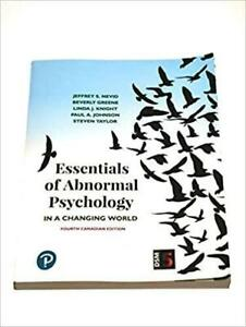 Essentials of Abnormal Psychology 4th Canadian Edition Canada Preview