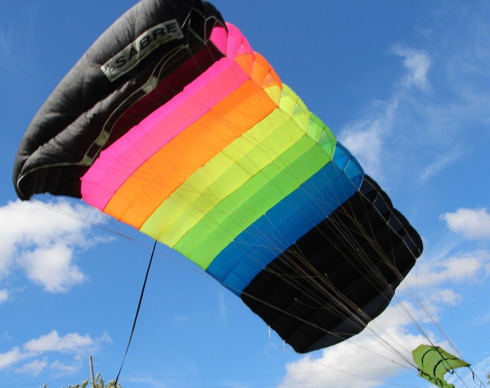 Racer Elite skydiving parachute rig   Sabre 135 main   MicroRaven150 reserve